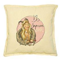 Vietsbay's Capricorn Zodiac Sign-1 Prints Khaki Decorative Pillows Case ... - $13.59