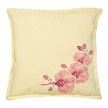 Vietsbay's Floral Design-2 Prints Khaki Decorative Pillows Case VPLC_02 - $13.59