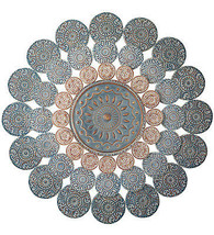 Awesome  Medallion Metal Wall Sculpture Round P... - $173.25