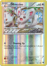 Minccino 86/124 Common Reverse Holo Fates Collide Pokemon Card - $1.09