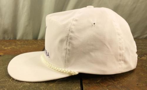 Vectra Sportcap Vintage White Adjustable Rope Hat / Baseball Cap