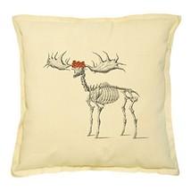 ?irish elk skeleton Printed Khaki Decorative Pillows Case VPLC_02 - $13.59