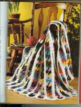 Big Book of Scrap Crochet Afghan Patterns~Hard Cover Book~Excellent Condition! - $69.99