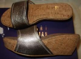 Stuart Weitzman Kimono wedge shoes dark gold  sz 36.5 US SZ 6 new - $184.04