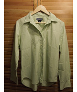 Land's End Women's dress shirt long sleeve size 14 petite celery green - $23.36