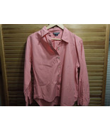 Land's End Women's dress shirt long sleeve size 14 petite salmon - $23.36