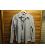 Land's End Womens long sleeve button down dress shirt size 14 petite sky... - $23.36