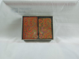 Vintage Hallmark fractal Paisley double card deck set with case - $28.03