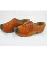 Vintage handpainted dutch wooden Clogs wood shoes - $18.68