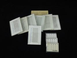 Specimen grid storage box set of 11 diamond shaped weel LKB POLARON - $18.69
