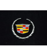 Miniature Metal Cadillac emblem with plate attachment tiny hood ornament - $20.56