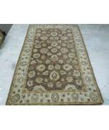 VINTAGE WOOL Rug Handmade Indian Peshawar distressed area rug 5' by 8' - $364.64