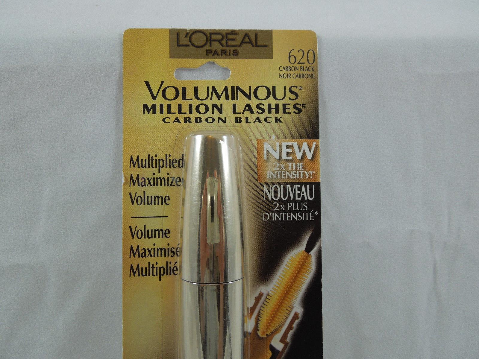 d4ad0a8376f L'Oreal Paris Voluminous Million Lashes Mascara, Carbon Black, 0.3 Fluid  Ounce