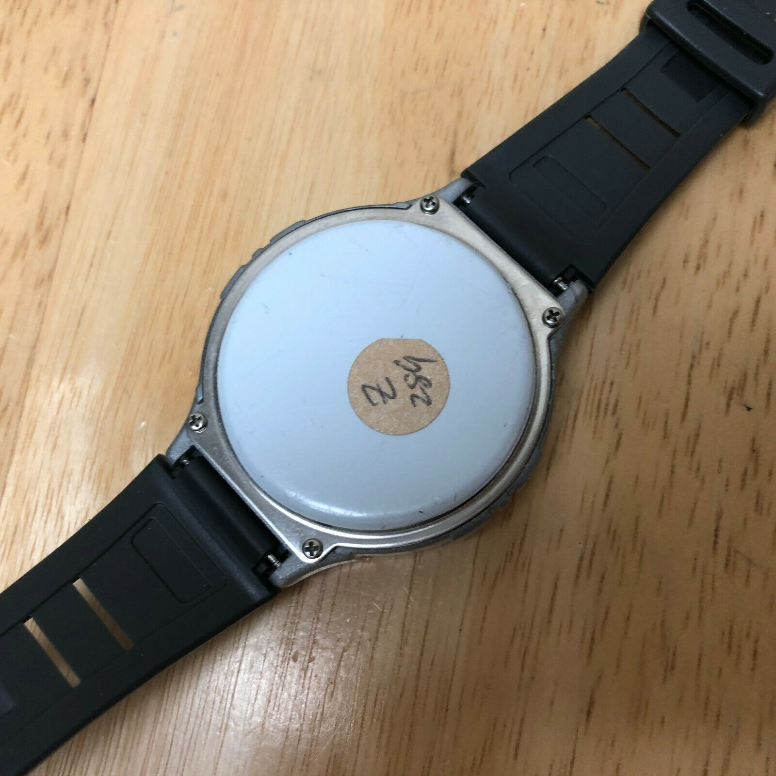 Vintage Prospirit Mens Silver Digital Heart Rate Chrono Watch Hours~New Battery image 4