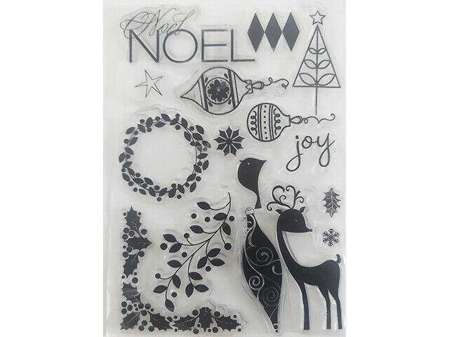 Noel Christmas Clear Stamp Set
