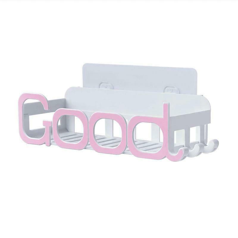 Corner Storage Wall Mounted Plastic Suction Bathroom Shelf Storage Basket Holder image 10