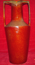 Grecian Two Handled Antique Trophy Vase w/ Brown Glaze and Numbered 4688 - $51.38