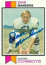 Dave Manders autographed Football Card (Dallas Cowboys) 1973 Topps #526 - $15.00