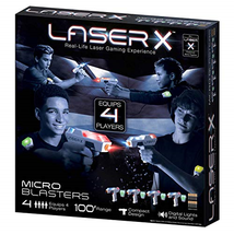 NEW Laser X Micro Blasters 4-Pack Laser Gaming - $45.99