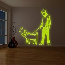"( 71"" x 79"" ) Banksy Glowing Vinyl Wall Decal Choose Your Weapon / Glow in Da... - $310.85"