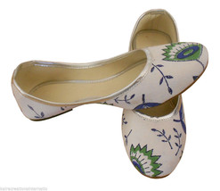 Women Shoes Traditional Handmade Indian Leather Mojari Ballerinas Juttie... - £19.27 GBP