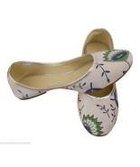 Women Shoes Traditional Handmade Indian Leather Mojari Ballerinas Juttie... - $24.99