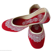 Women Shoes Traditional Indian Handmade Leather Ballerinas Mojari US 5-7.5 - £19.27 GBP