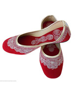Women Shoes Traditional Indian Handmade Leather Ballerinas Mojari US 5-7.5 - $24.99