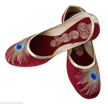 Women Shoes Indian Handmade Traditional Jutti Leather Ballerinas Mojari ... - £19.27 GBP