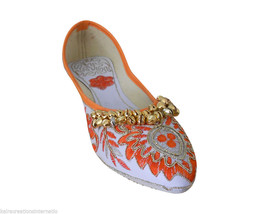 Women Shoes Designer Indian Handmade Mojaries Pointy Flats Jutties US 5 - $24.99