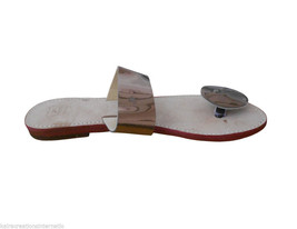 Women Slippers Indian Handmade Traditional Leather Flip-Flops Flats US 6-10 image 3