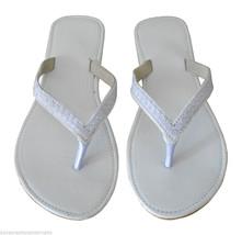 Women Slippers Indian Handmade Leather Flip-Flops Traditional Slip On White US 5 - $24.99