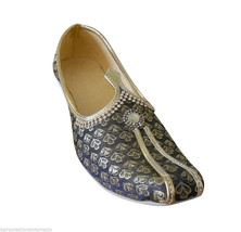 Men Shoes Jutti Indian Handmade Wedding Groom Pointy Toe Loafers Khussa US 7 - $34.99