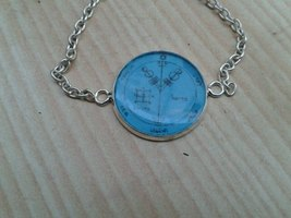 Fourth Pentacle of Jupiter bracelet for wealth and riches. Seal of Solomon - $19.99