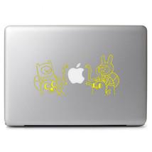 "Multiple Color Adventure Time Vinyl Decal Sticker for 13"" 15"" Apple Macbook - $9.17+"