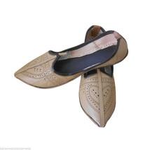Men Shoes Indian Handmade Rajasthani Mojari Leather Espadrilles Jutties US 7 - $34.99