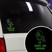Multiple Color Super Baby Luigi Funny Baby on Board Car Vinyl Decal Sticker - $7.07+
