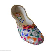 Women Shoes Indian Designer Handmade Mojari Ballerinas Jutties US 6/7 - £20.43 GBP