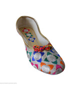 Women Shoes Indian Designer Handmade Mojari Ballerinas Jutties US 6/7 - $24.99