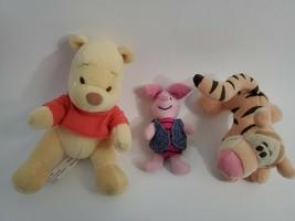 Winnie The Pooh Tigger Piglet Tiny Stuffed Animal Toy Set 5-6 Inch 3 Pie... - $14.70