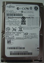 "Fujitsu MHW2080BJ 80GB SATA 2.5"" 9.5mm hard Drive Tested Good Our Drives Work"