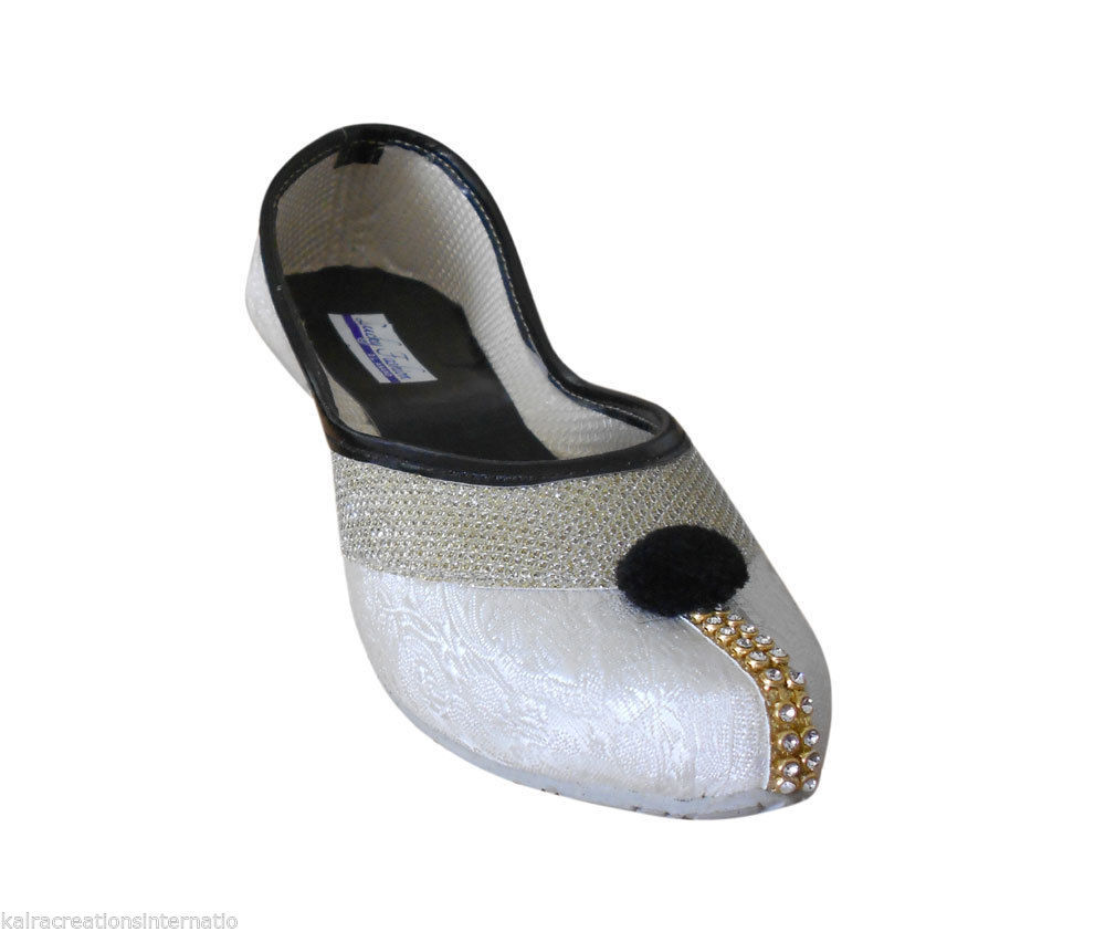 Primary image for Women Shoes Indian Handmade Wedding Mojari Pointy Flats Jutties US 5.5-8