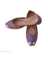 Women Shoes Indian Wedding Designer Mojaries Leather Ballet Flats Juttie... - $29.99