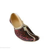 Mojari Designer Sherwani Shoes Men Khussa Indian Handmade Jutti Flat US 6  - $49.99