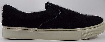 Candies BARRIER Furry Faux Fur Slip-on Sneakers Women's US Size 6 Black $55