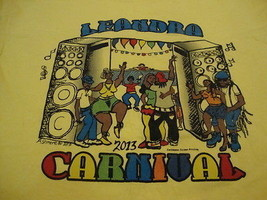Leandra Carnival 2013 Rap Hip Hop Party Music Dancing Fun Yellow T Shirt L - $16.82