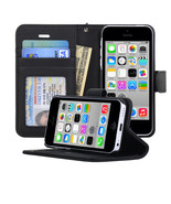 Navor Life Protective Book Style Folio Wallet Leather Case for iPhone 5C - $13.50