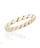 Stylish Brand New Ring Made of 14K Yellow Gold and White African Faux Ivory - $62.25