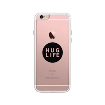 Hug Life Black Sleeveless Clear Phone Case - $9.99