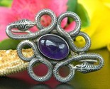 Vintage coiled snakes brooch pin amethyst cabochon sterling silver 925 thumb155 crop